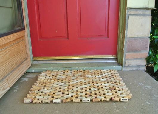 Cork doormat